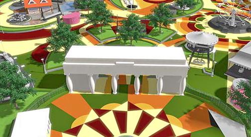 Новиот скопски забавен парк налик на  Скопје 2014