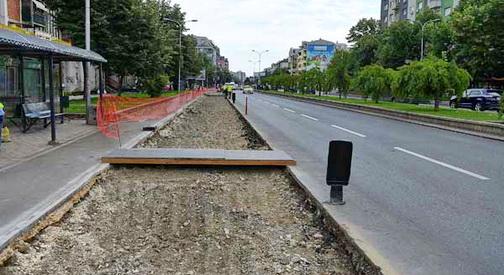 Започна реконструкцијата на булеварот Партизански одреди